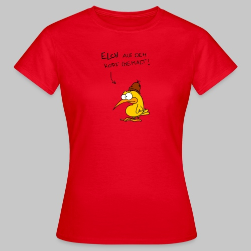 Elch (dunkle Schrift) - Frauen T-Shirt