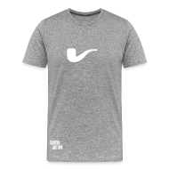 T-Shirts ~ Männer Premium T-Shirt ~ Slanted – Art Type / Grey White / Man