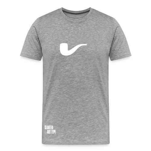 Slanted – Art Type / Grey White / Man - Männer Premium T-Shirt
