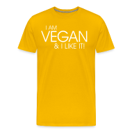 T-Shirts ~ Männer Premium T-Shirt ~ I am vegan and I like it