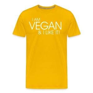 I am vegan and I like it - Männer Premium T-Shirt