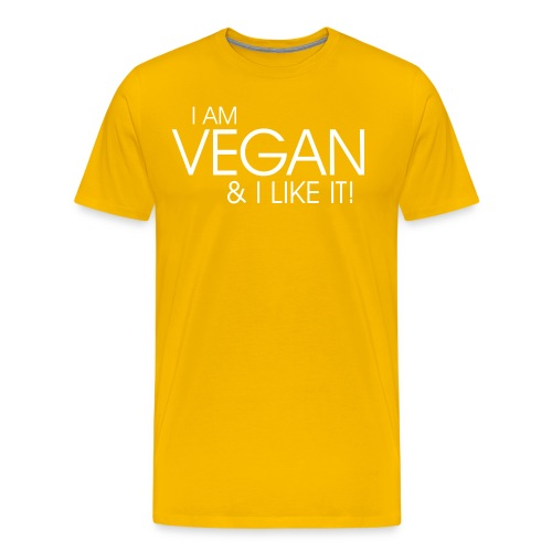 I am vegan and I like it - Männer Premium T-Shirt