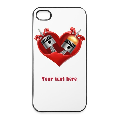 iPhone 4/4S - Heart with your message - iPhone 4/4s Hard Case