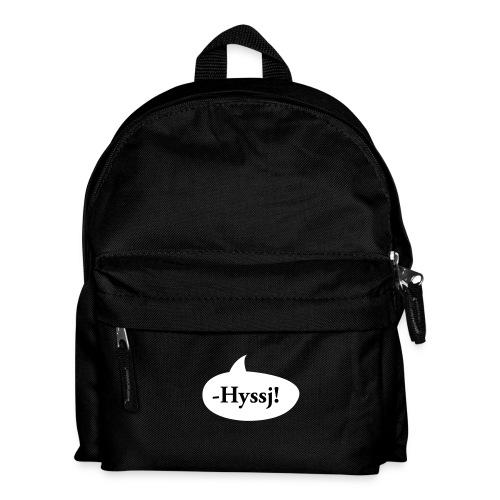 HYSSJ! - Ryggsäck för barn
