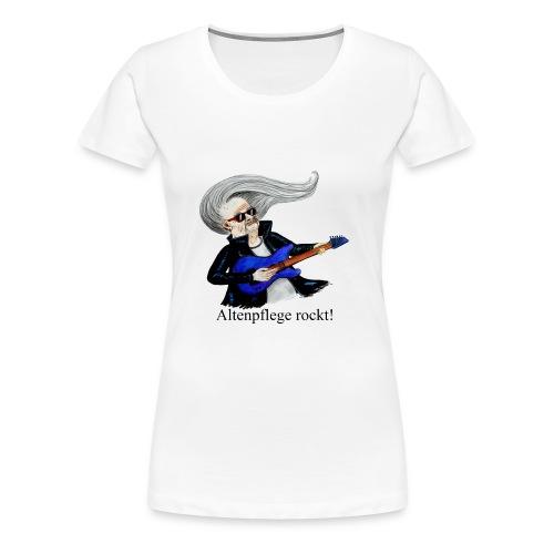 Frauen Shirt Altenpflege rockt - Frauen Premium T-Shirt