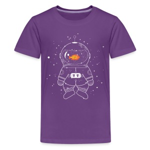 Astronaut with goldfish  Shirts - Teenage Premium T-Shirt