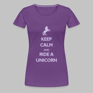 T-shirt Femme (woman) Ride a Unicorn - Women's Premium T-Shirt