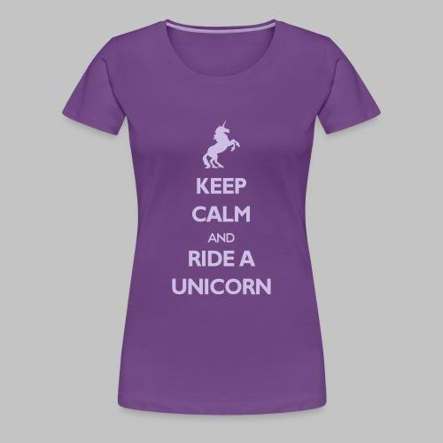 T-shirt Femme (woman) Ride a Unicorn - Women's Premium T-Shirt