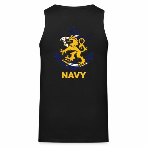 Navy - Miesten premium hihaton paita
