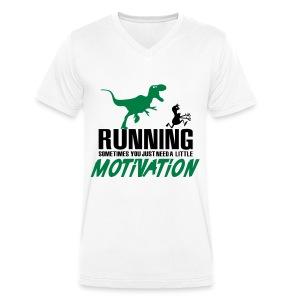 Running motivation - Mannen bio T-shirt met V-hals van Stanley & Stella