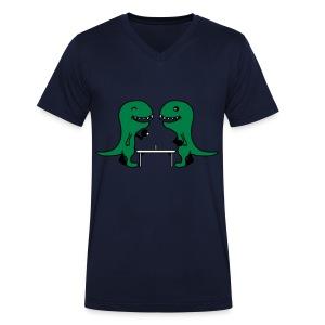 Table Tennis Dino's - Mannen bio T-shirt met V-hals van Stanley & Stella