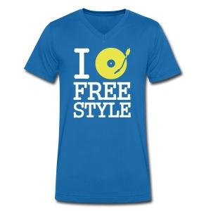 Free Style - Mannen bio T-shirt met V-hals van Stanley & Stella