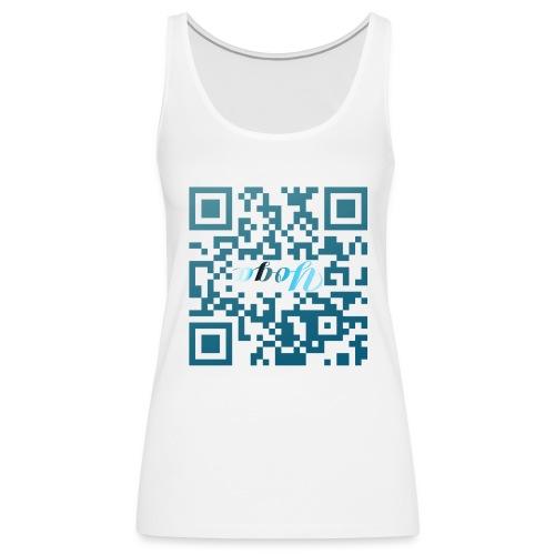 Yoga-Kopfstand QR-Code - Frauen Premium Tank Top