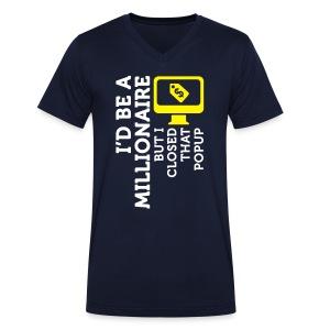 I'd be a millionaire - Mannen bio T-shirt met V-hals van Stanley & Stella
