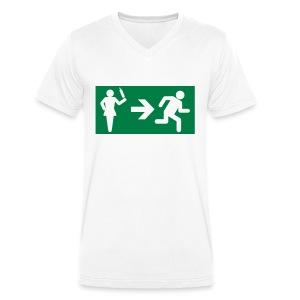 Emergency Exit - Mannen bio T-shirt met V-hals van Stanley & Stella