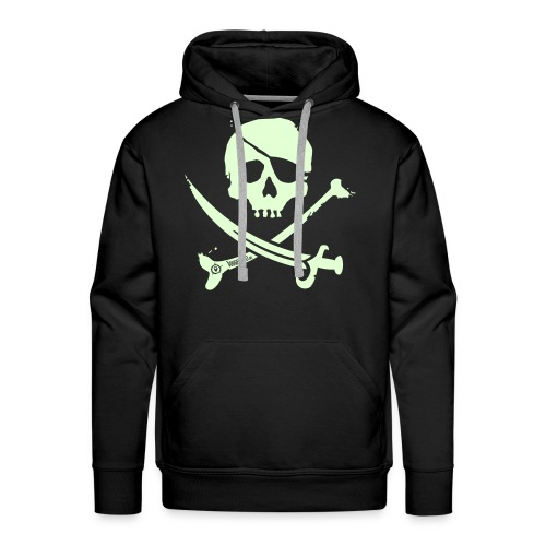 Pirate Crew - Men's Hoodie (White print, glows green in the dark) - Mannen Premium hoodie