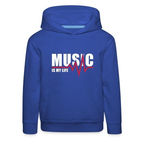 Music is my life - Kinderen trui Premium met capuchon