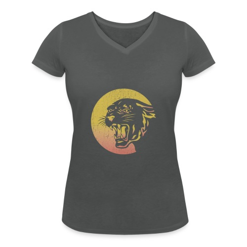 Panther Head - Women's Organic V-Neck T-Shirt by Stanley & Stella