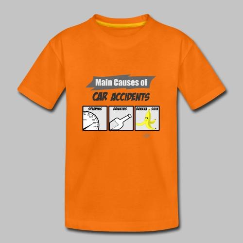 T-shirt Ado (teenager) Main causes of car accidents - Teenage Premium T-Shirt