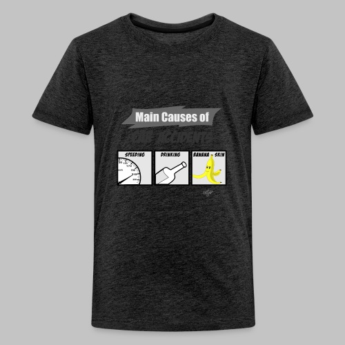 T-shirt Ado (teenager) Main causes of car accidents - Teenage Premium T-Shirt