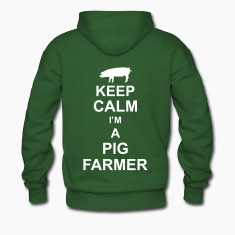 keep_calm_im_a_pig_farmer_g1 Hoodies & Sweatshirts