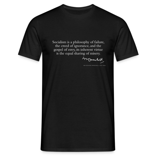 Citat av Sir Winston Churchill - T-shirt herr