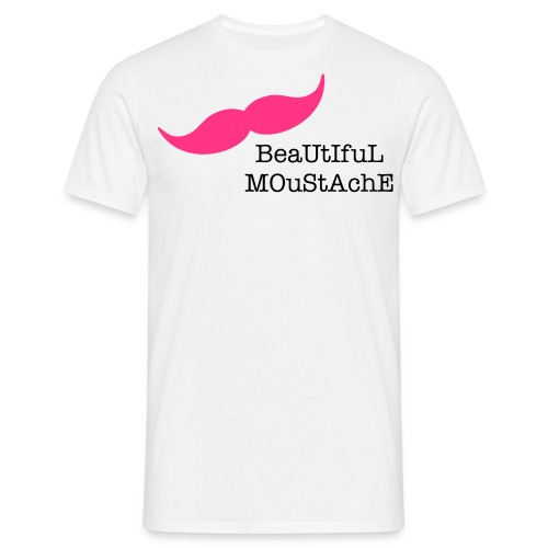 Beautiful Moustache (Pink) - Men's T-Shirt