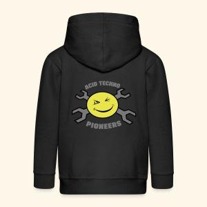 Acid Techno Pioneers Collection Kids' Zip Hoodie - Kids' Premium Zip Hoodie