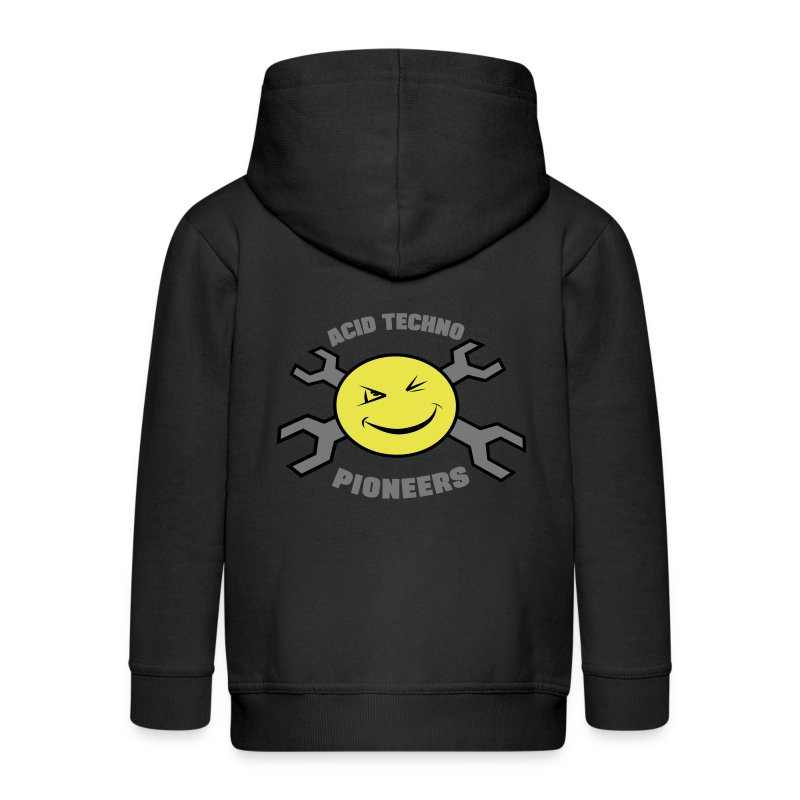 Acid Techno Pioneers Collection Kids' Zip Hoodie - Kids' Premium Zip Hoodie