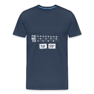 Tee shirts ~ T-shirt Premium Homme ~ Grid Pattern White (Man)