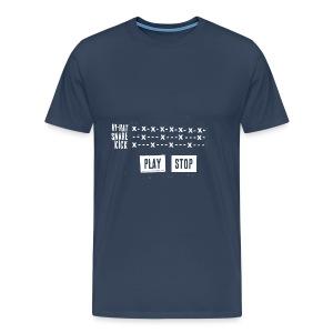 Grid Pattern White (Man) - T-shirt Premium Homme