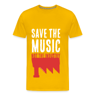 Tee shirts ~ T-shirt Premium Homme ~ Save the Music, not the Industry White (Man)