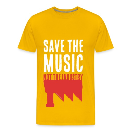 Save the Music, not the Industry White (Man) - T-shirt Premium Homme