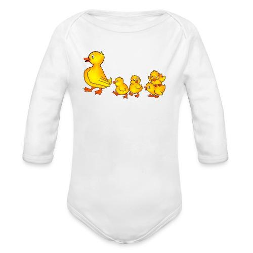 Duckling Run - Organic Longsleeve Baby Bodysuit
