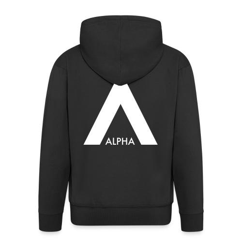 ZipHoodie Nick bröst logga rygg alphas female - Premium-Luvjacka herr