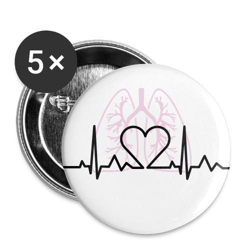Button Herzschlag - Buttons mittel 32 mm