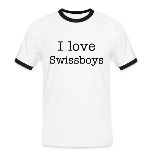 Swissboys;Sorry Girls - Männer Kontrast-T-Shirt