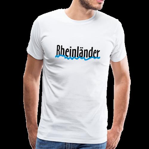 Rheinländer mit Rheinverlauf - Männer Premium T-Shirt