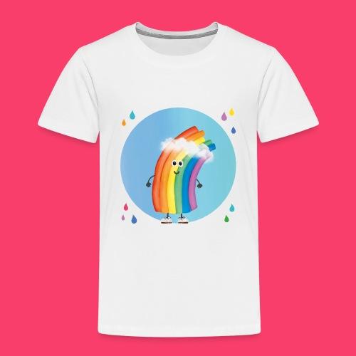 Rudi Regenbogen Kinder-Shirt Regentropfen Aquarell - Kinder Premium T-Shirt