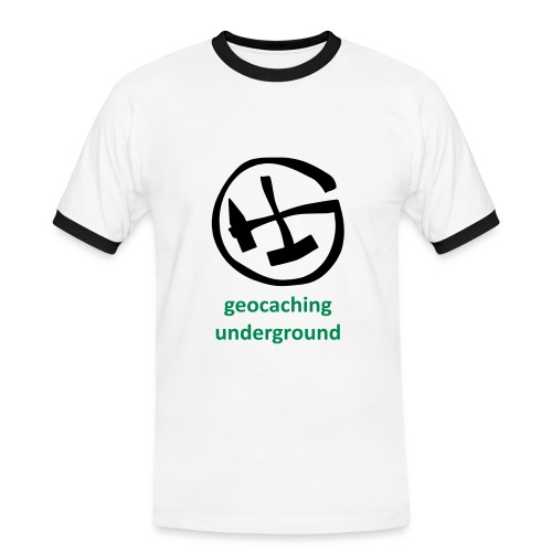 geocaching underground mining zweifarbig - Männer Kontrast-T-Shirt