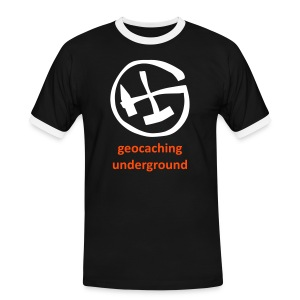 geocaching underground mining glow in the dark - Männer Kontrast-T-Shirt