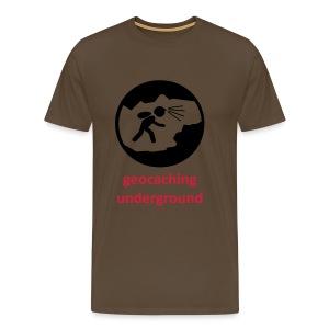 geocaching underground zweifarbig - Männer Premium T-Shirt