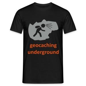 geocaching underground zweifarbig - Männer T-Shirt