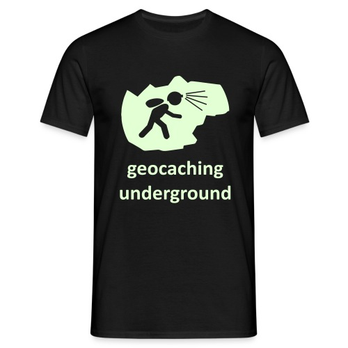 geocaching underground glow - Männer T-Shirt