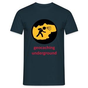 geocaching underground dreifarbig - Männer T-Shirt