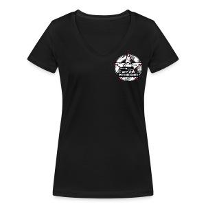 Pothole Rodeo Logo Girl Shirt - Frauen Bio-T-Shirt mit V-Ausschnitt von Stanley & Stella