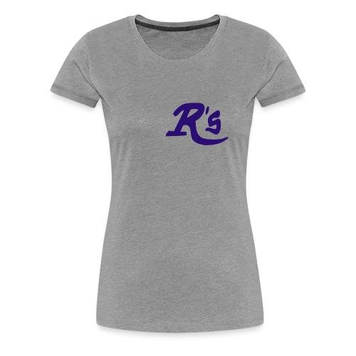 Frauen Premium T-Shirt Navy R´s  - Frauen Premium T-Shirt