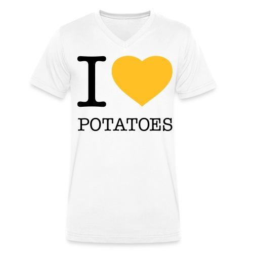 I Love Potatoes - Shirt - Männer Bio-T-Shirt mit V-Ausschnitt von Stanley & Stella