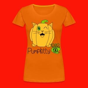 Pumpkitty Ladies Tee - Women's Premium T-Shirt