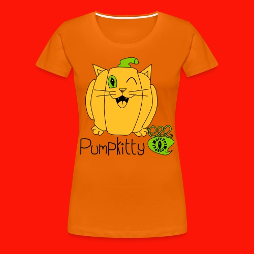 Pumpkitty Ladies Tee - Women's Premium T-Shirt